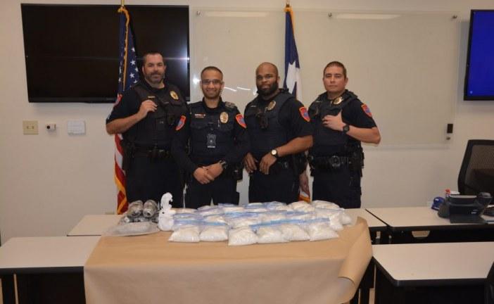 Denton police seize 75 pounds of meth after car crash
