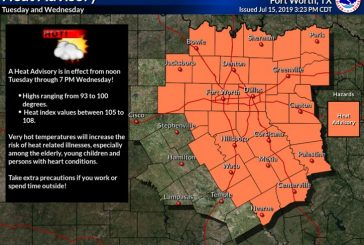 Heat Advisory in effect Tuesday and Wednesday
