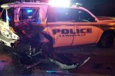 Suspected drunken driver crashes into Lewisville police vehicle