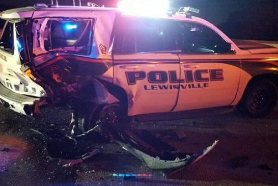 Suspected drunken driver crashes into Lewisville police vehicle