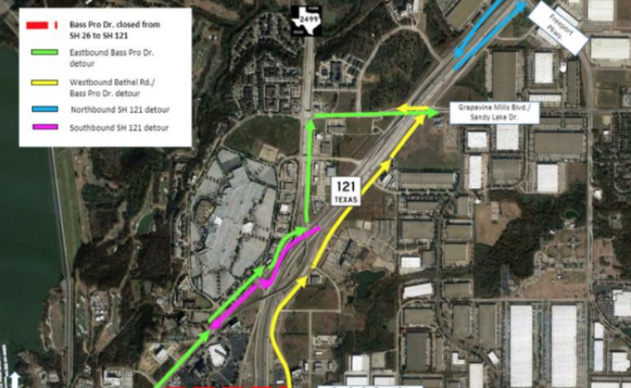 Full closures of Hwy 121, Bass Pro Drive scheduled this weekend