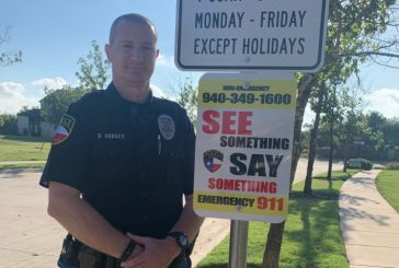 Argyle police post 'See Something, Say Something' signs