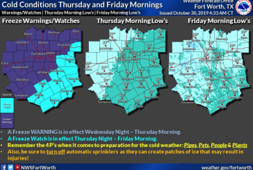 Freeze warning issued for Wednesday night/Thursday morning