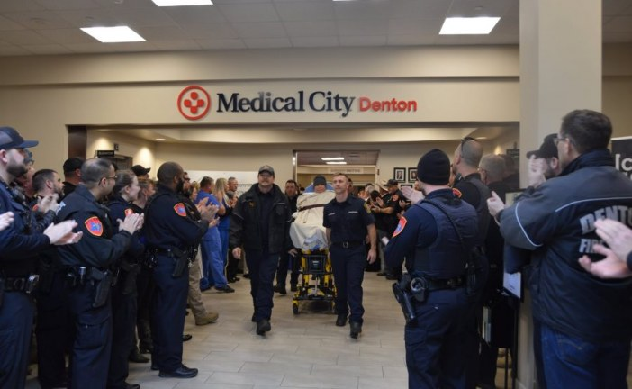 Denton officer taken to rehab as recovery continues
