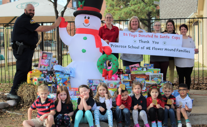 Local preschool donates toys to Santa Cops drive