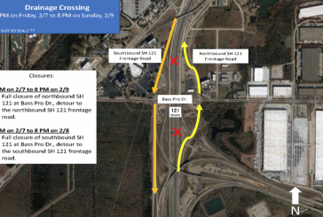 Full closures of Hwy 121 scheduled this weekend