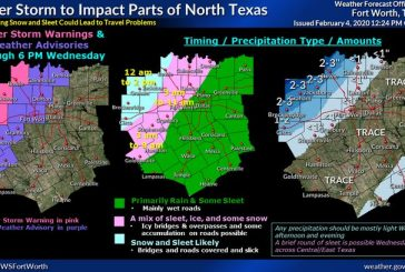 Wintry mix expected in Denton County on Wednesday morning