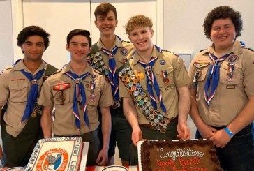 Local Boy Scout Troop 265 celebrates five Eagles