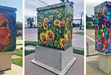 Flower Mound's new cultural traffic signal box wraps complete