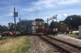 Train strikes truck in Argyle