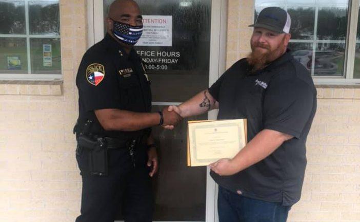 Argyle PD honors public works employee