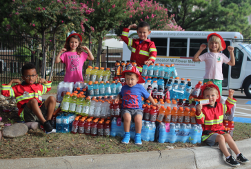 Local daycare families donate to Flower Mound firefighters